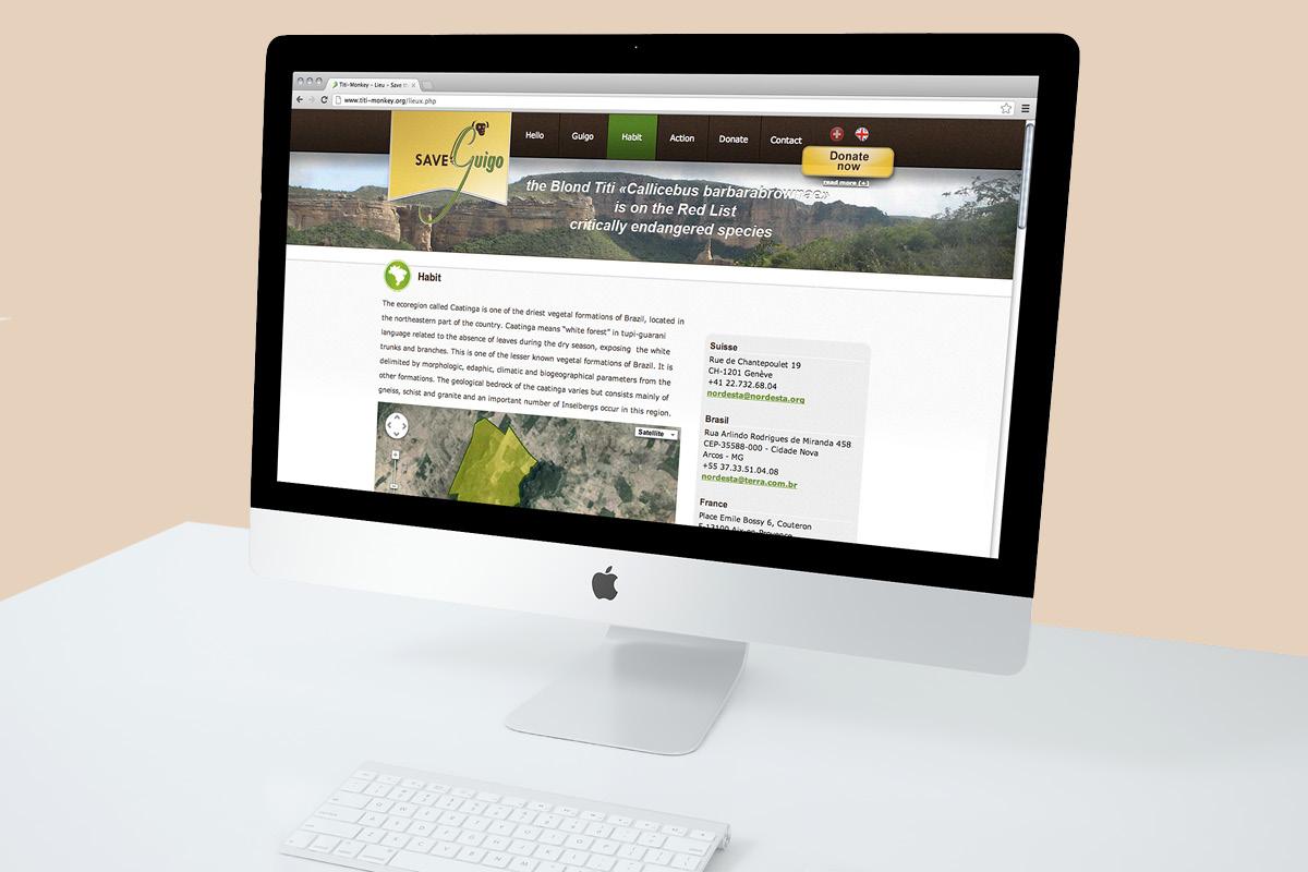 Webdesign site Sauvez Guigo